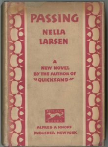 First edition of Nella Larsen's Passing, 1929.