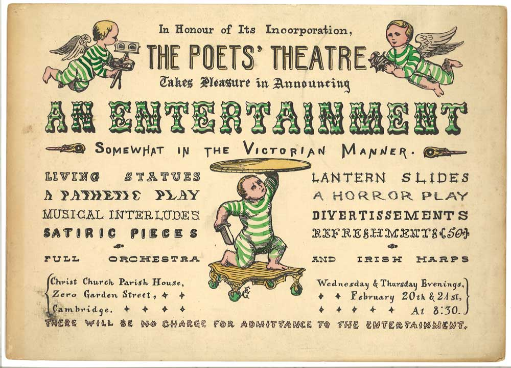 "Edward Gorey, poster for ""An Entertainment Somewhat in the Victorian Manner"" by the Poets' Theatre. (Larry Osgood, private collection)"
