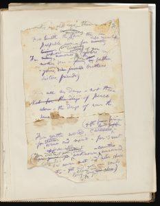 Whitman manuscript fragment