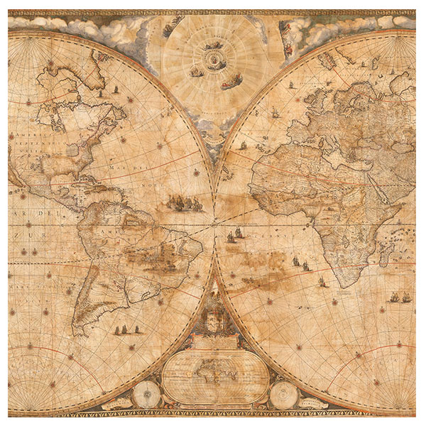 Seeing stars in the Blaeu World Map