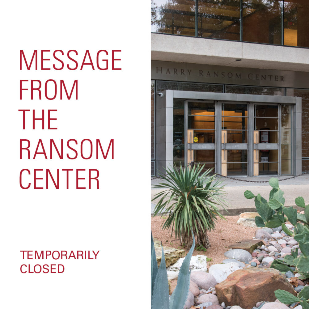 Ransom Center closed temporarily