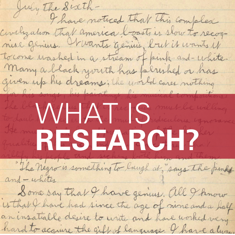 What is Research? An exercise in Slow Research