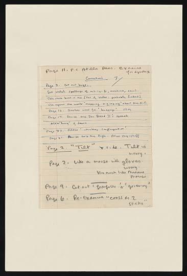 Dylan Thomas Manuscript