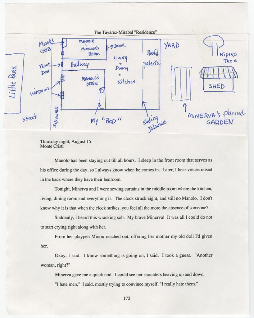 Julia Alvarez manuscript 1