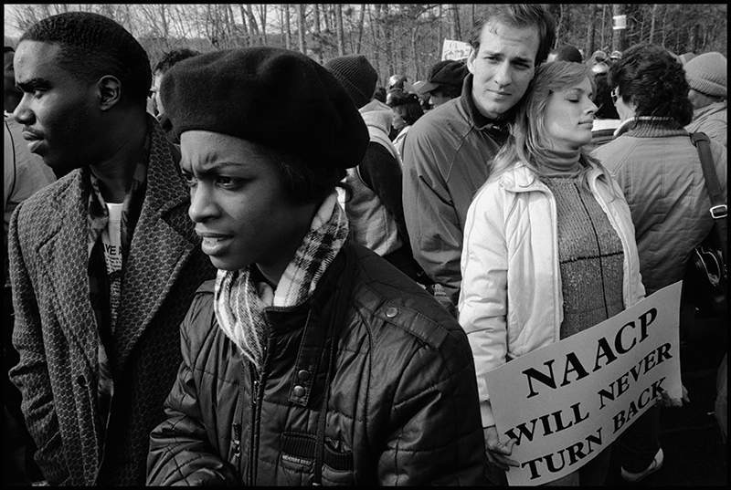 Eli Reed, Anti-Racism March, Forsyth County, Georgia, 1987. Image courtesy of Magnum Photos, Inc. © Eli Reed/Magnum Photos