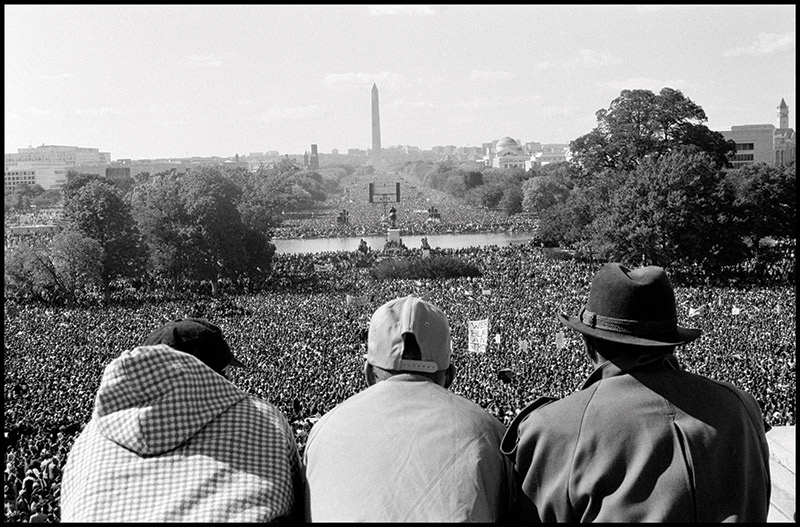Eli Reed, Million Man March, Washington, D.C., 1995. Image courtesy of Magnum Photos, Inc. © Eli Reed/Magnum Photos