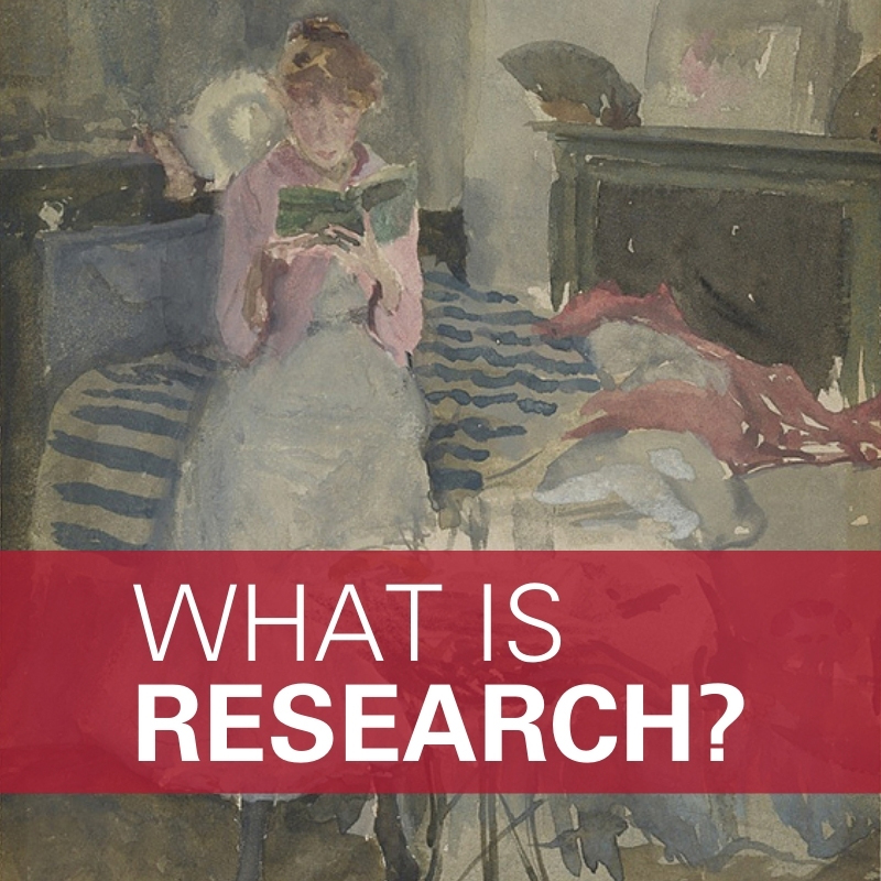NOT SPEED READING: The slow pleasures of research