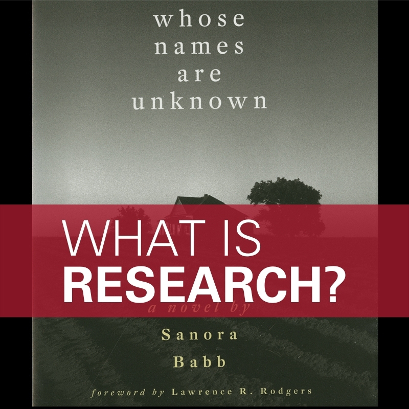 What is research but a conversation in search of the truth?