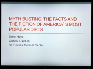Diet Facts Talk at Health Interest Group