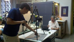 Dimitri Nakassis and Kevin Pluta using RTI in the National Archaeological Museum