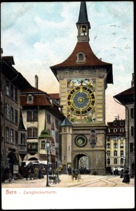 The Zytglogge clock tower, on the street where Einstein lived in   Switzerland. Writers claim that it inspired Einstein to think of the   relativity of time.