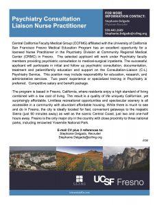 NP Opportunity, CA: Psychiatry Consultation Liaison Nurse