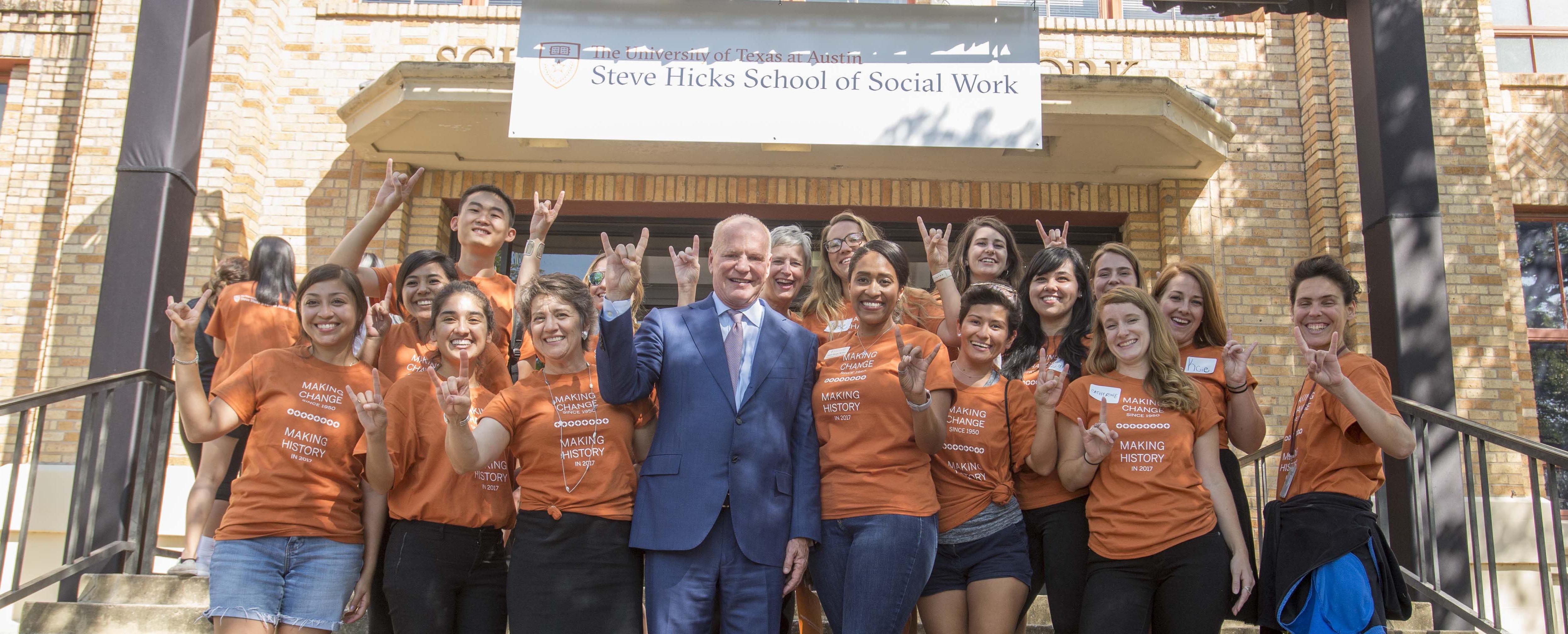 Steve Hicks School of Social Work announcement 2017