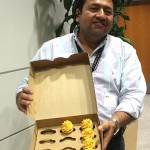 Erick Conde and SAC's golden cupcakes