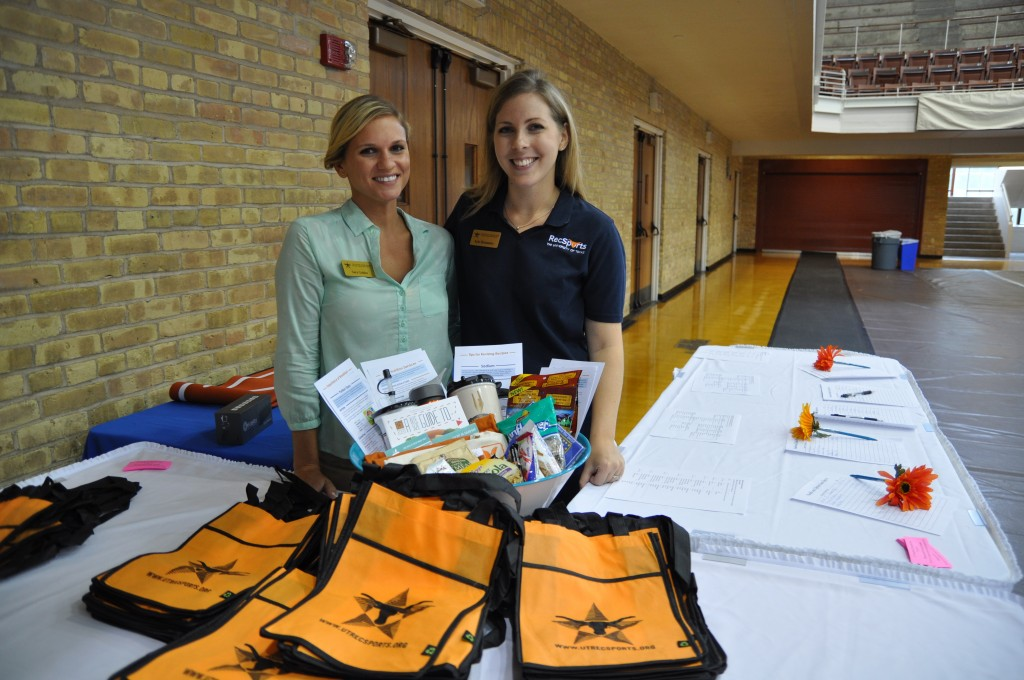 Sara Golden and Kyle Hernandez at the Health Expo