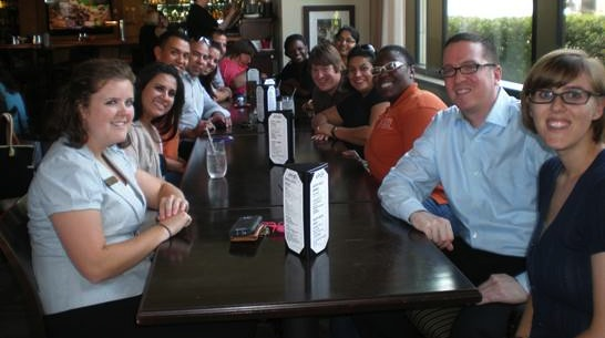 Photo of Residence Life, Student Emergency Services and Student Judicial Services meet and greet