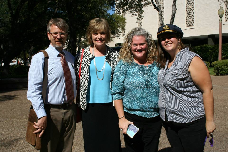 Chris Brownson, Donna Bellinghausen, Jennifer Hammat & Erin Burrows at the Rally for Healthy Relationships