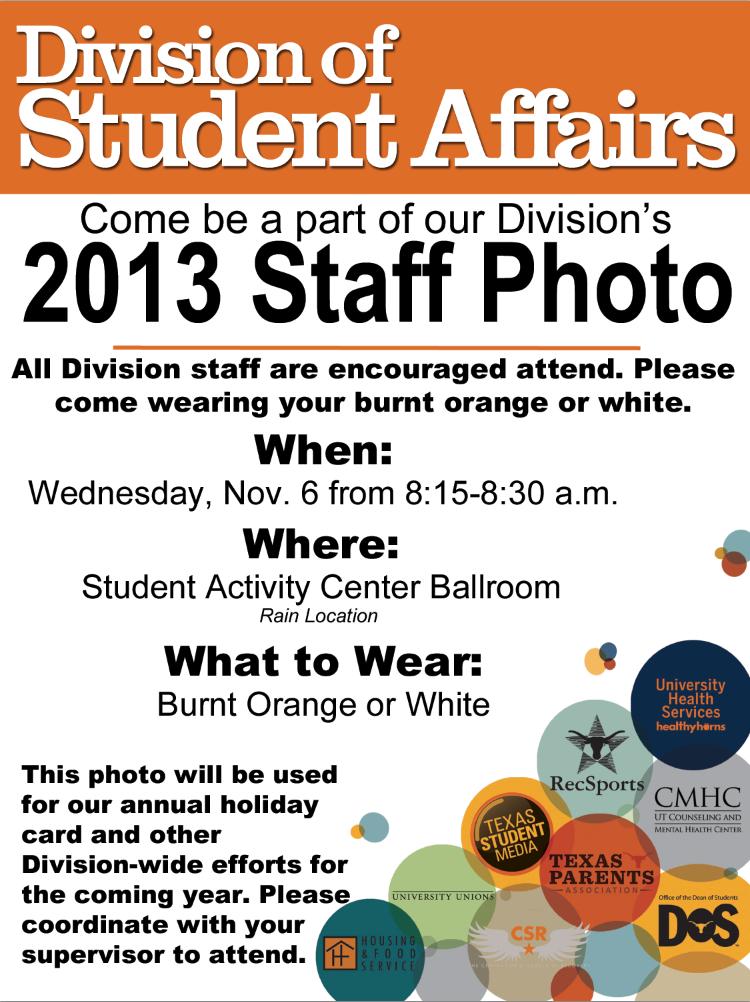 UPDATED 2013 Division Staff Photo invite