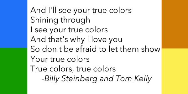 True Colors Quote