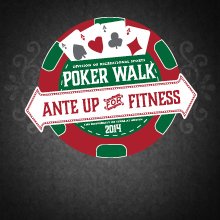 Graphic: Poker Walk - Ante Up For Fitness