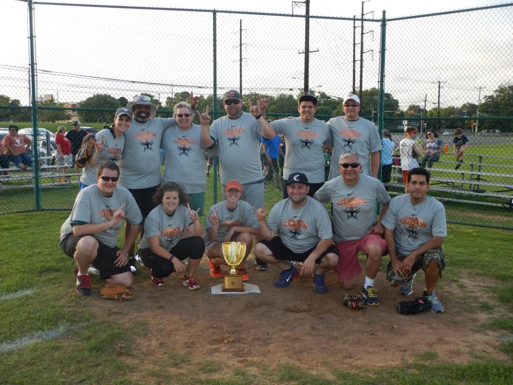 Housing and Food Service's Green Lightening softball team