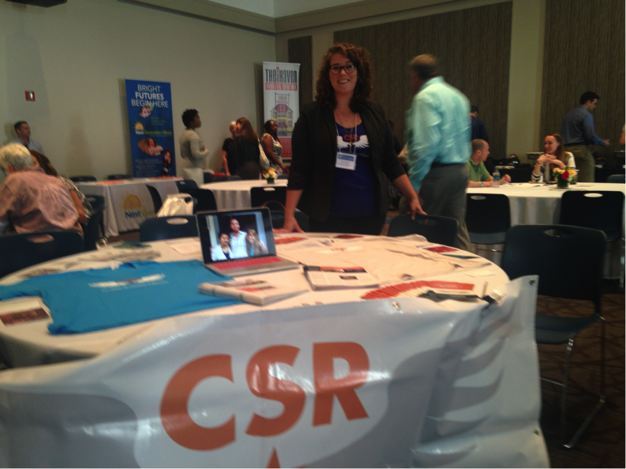 Sierra Castedo at the Association of Recovery School conference