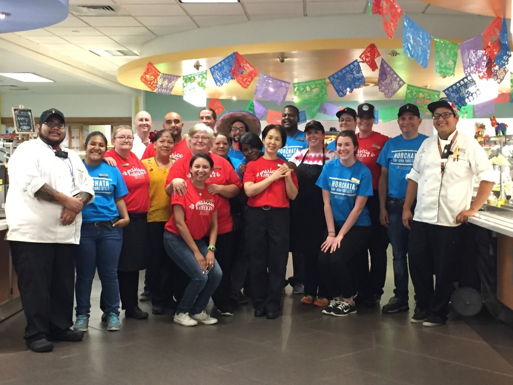 The Kinsolving Dining Hall Team at the Mexican American Cultural Dinner
