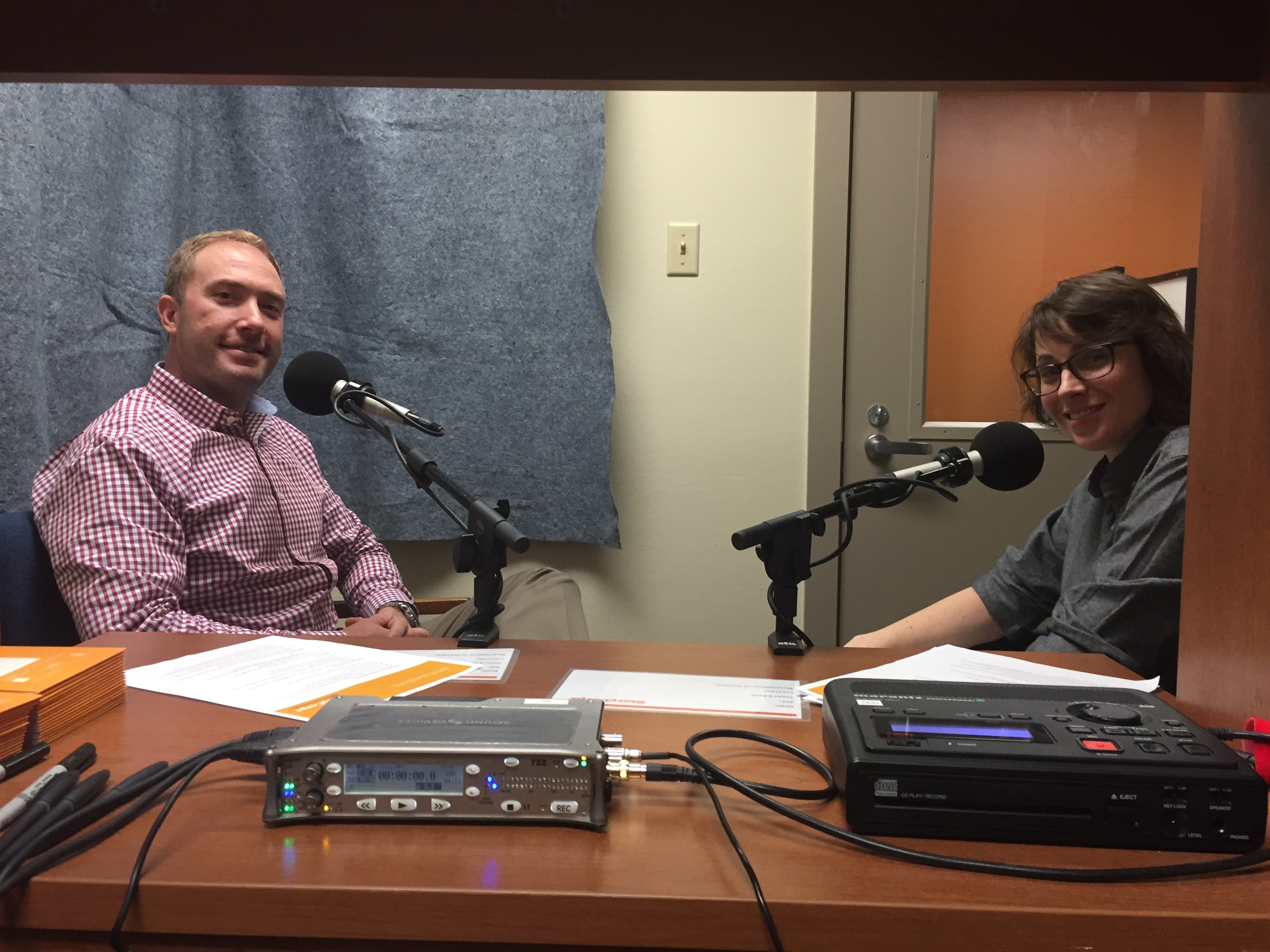 Sara LeStrange interviews Jeremiah Gunderson (DoS) for StoryCorps Military Voices Initiative.