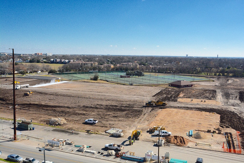 The renovation of Whitaker Fields at Guadalupe and 51 St. is underway.