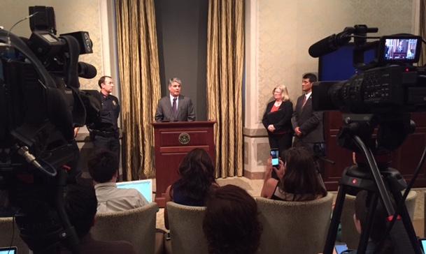 Homicide press conference