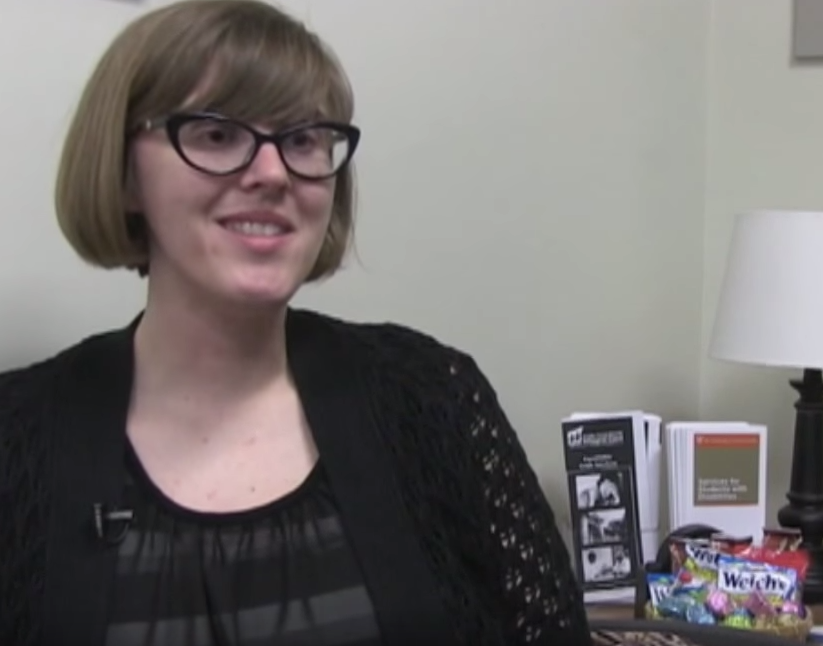 Krista Anderson (Office of the Dean of Students) speaks to KVR News.