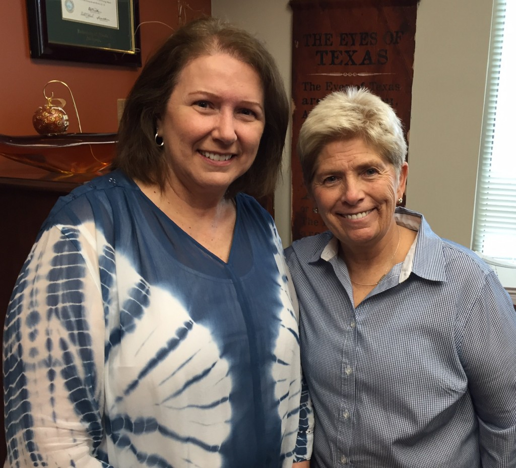 Kathy Mosteller and Debbie Nichols (University Health Services)