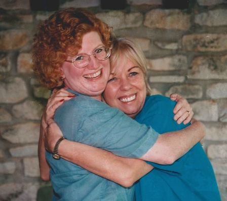 Gage Paine (right) with Sharon Justice in 1995