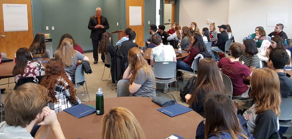 Doug Garrard welcomes Terry Scholars