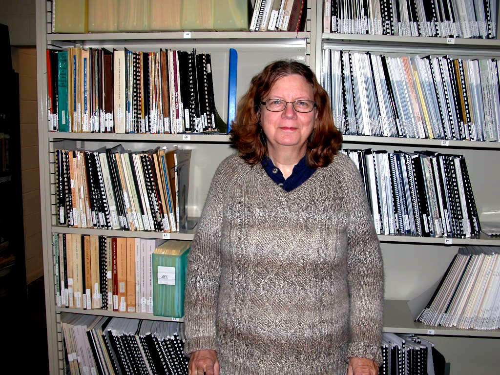 Jean Hughes can be found next to the library, valiantly ensuring the organization of the irreplaceable archives, institutional records, maps and publications housed at TARL.
