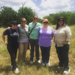 TARL Staff and FACTS researchers Dr. Michelle Hamilton and Courtney Siegert at the Forensic Anthropology Research Facility, Texas State University-San Marcos.