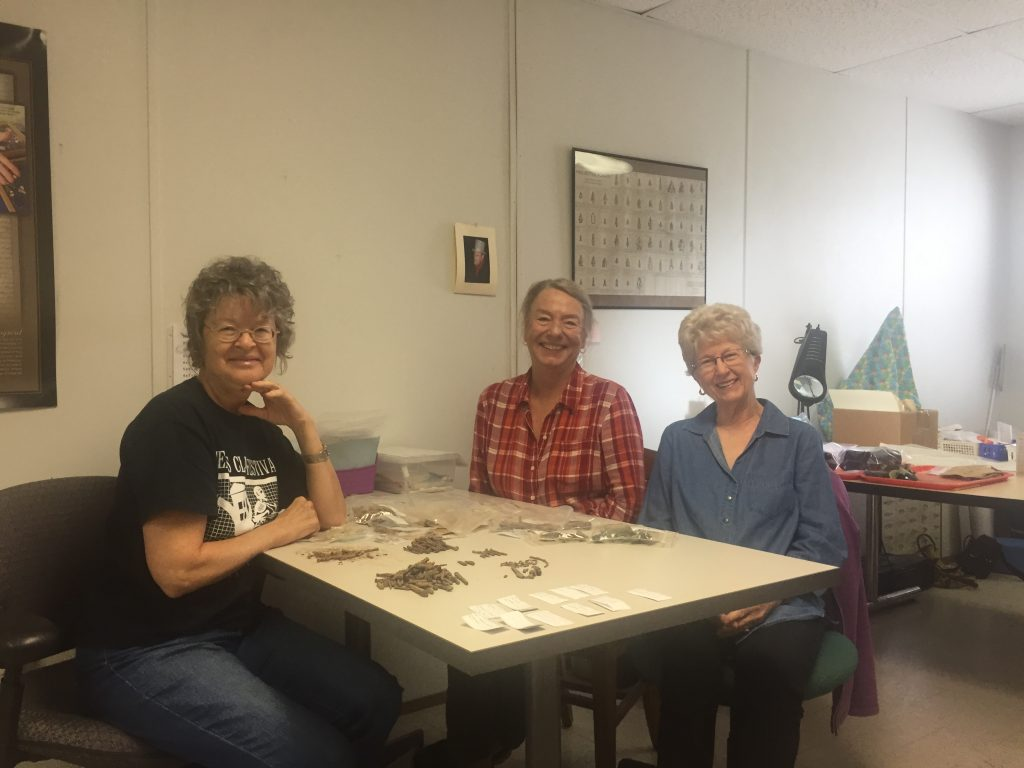 TAS Volunteers Bunny Hague, Patricia Perkins, and Jonelle Miller-Chapman in the TAS Lab at TARL.