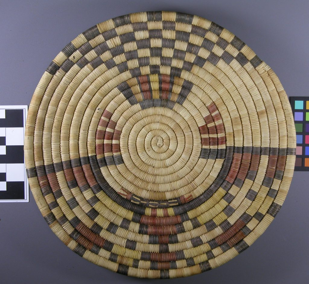 Hopi coiled plaque from the Seashore Collection. Image: TARL Archive.
