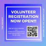 Flyer for general volunteer registration for the Project 2020!