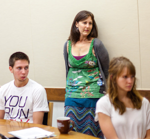 Lori Holleran in her signature course, Young people and drugs