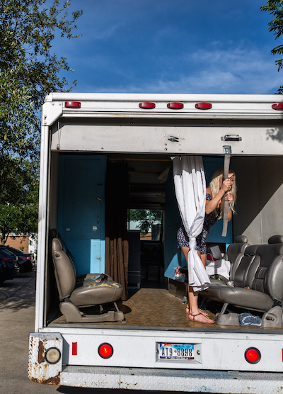 Nurse prepares AHRC van