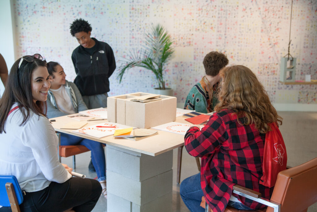 Students and teachers at the Visual Arts Center