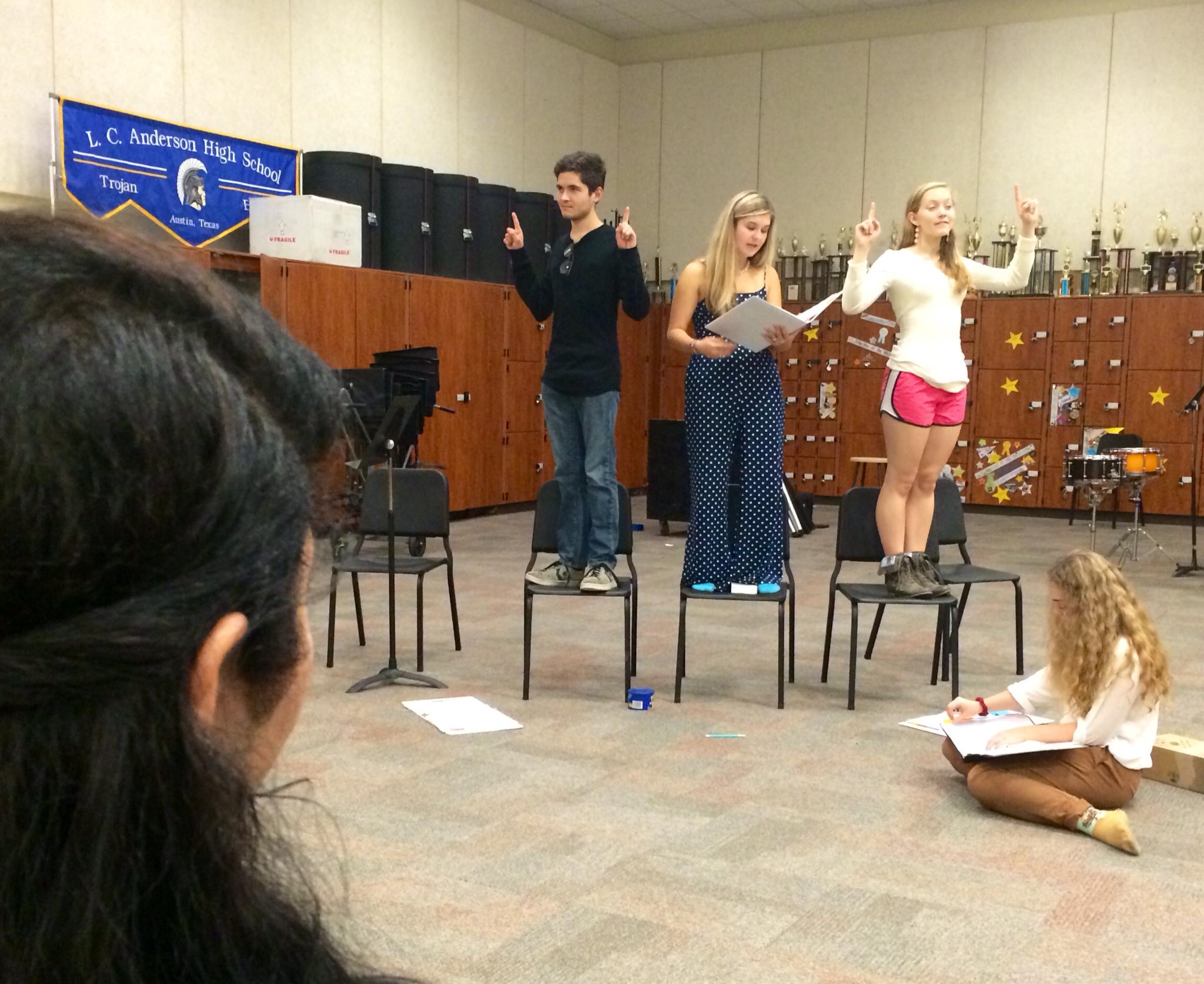 Photo of Theatre studies students