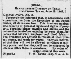 Image of printing of General Orders 3