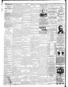 Image of a page of the Parsons Weekly Blade published on June 22, 1895