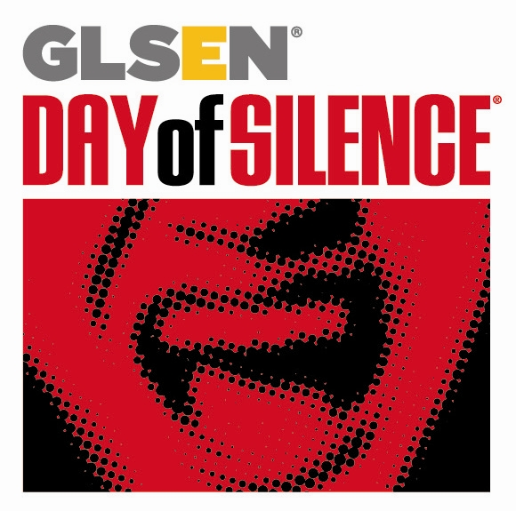 GLSEN Day of Silence Logo that features a red, monochromatic picture of an open mouth