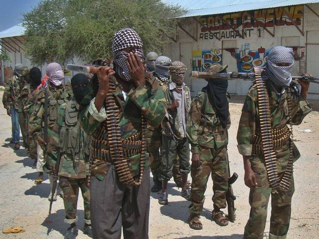 Fighters of the Islamic militant group Al Shabaab. From www.independent.co.uk.