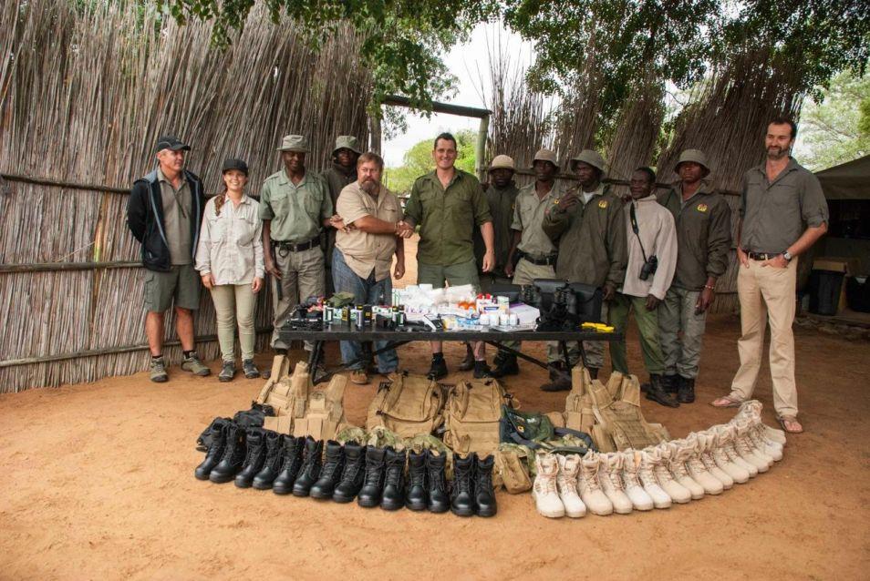 Privately donated anti-poaching equipment